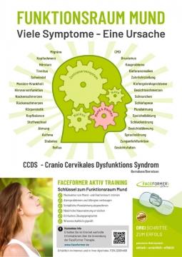 """Info-Plakat """"Funktionsraum Mund"""" zum Cranio Cervikalen Dysfunktions Syndrom"""